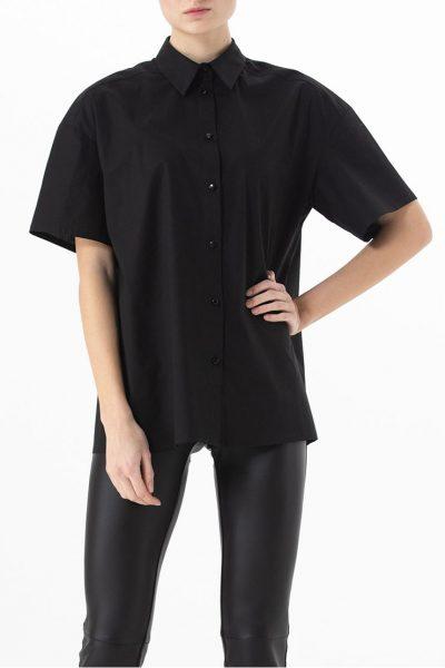Хлопковая рубашка свободного кроя ALOT_020142, фото 1 - в интеренет магазине KAPSULA