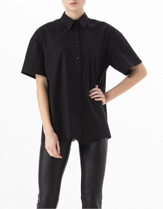 Хлопковая рубашка свободного кроя ALOT_020142, фото 3 - в интеренет магазине KAPSULA