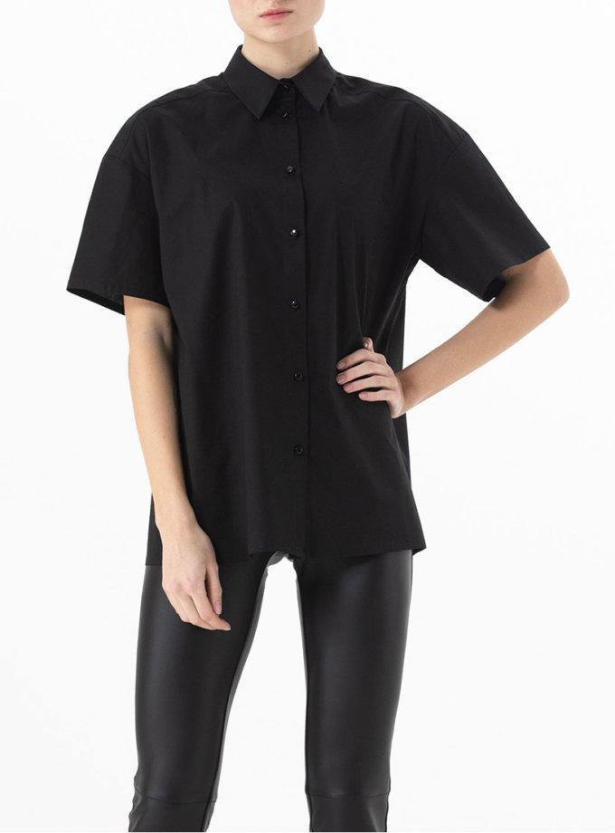 Хлопковая рубашка свободного кроя ALOT_020142, фото 1 - в интернет магазине KAPSULA