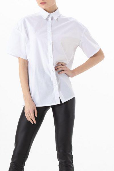 Хлопковая рубашка свободного кроя ALOT_020150, фото 1 - в интеренет магазине KAPSULA
