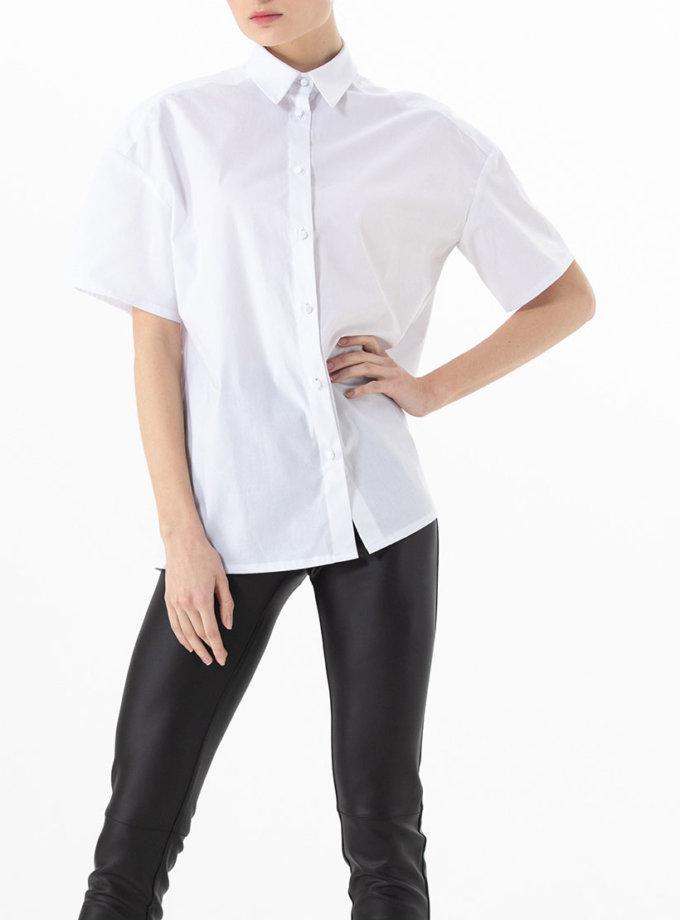 Хлопковая рубашка свободного кроя ALOT_020150, фото 1 - в интернет магазине KAPSULA