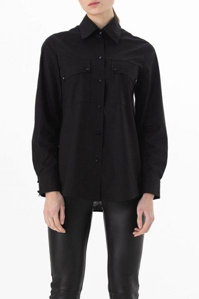 Хлопковая рубашка с карманами ALOT_020139, фото 1 - в интеренет магазине KAPSULA