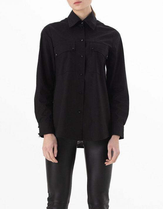 Хлопковая рубашка с карманами ALOT_020139, фото 3 - в интеренет магазине KAPSULA