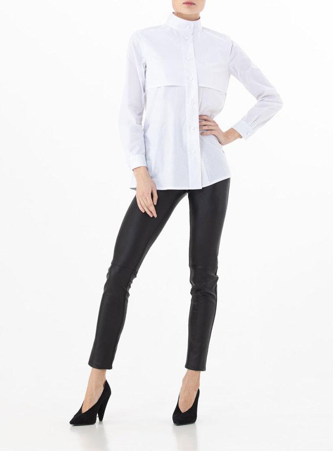 Рубашка с воротником на стойке ALOT_020154, фото 1 - в интернет магазине KAPSULA