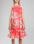 Платье миди с воланами на подкладе SOL_SSS2019D04_outlet, фото 4 - в интеренет магазине KAPSULA
