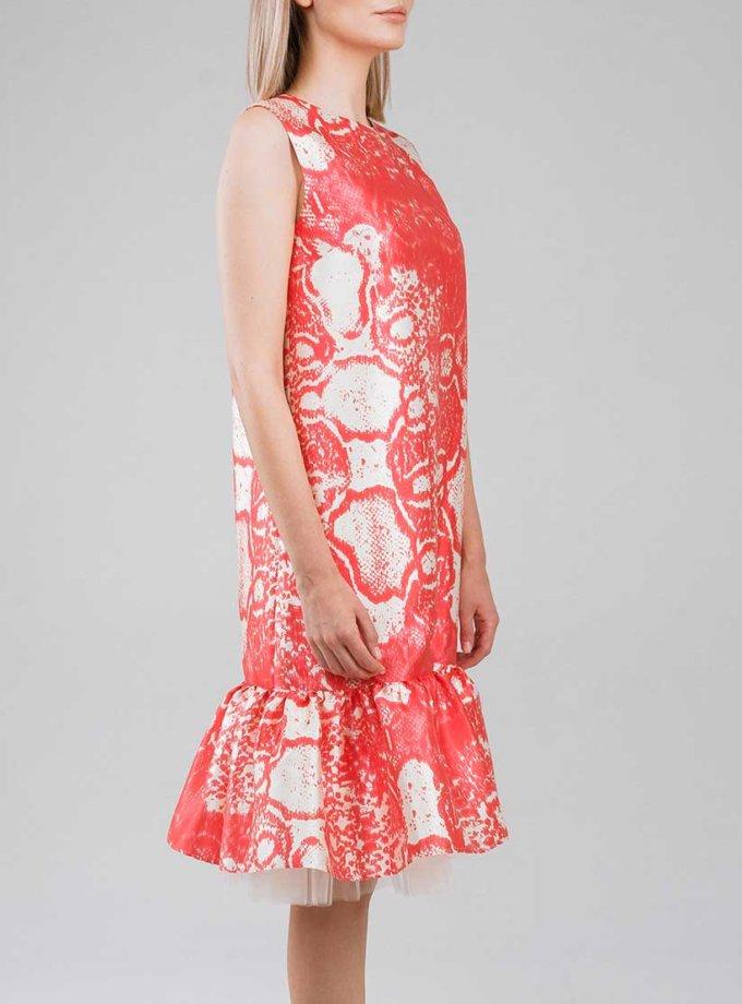 Платье миди с воланами снизу SOL_SSS2019D09_outlet, фото 1 - в интернет магазине KAPSULA