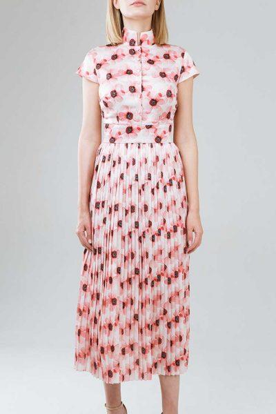 Платье плиссе приталенного силуэта SOL_SSS2019D08, фото 1 - в интеренет магазине KAPSULA