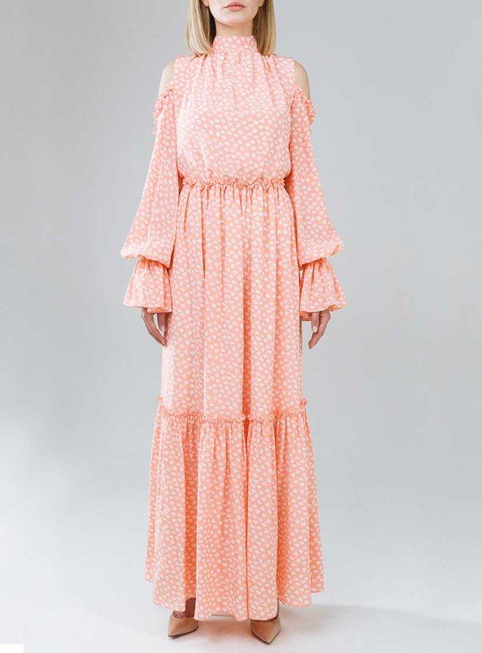 Платье макси с открытыми плечами SOL_SSS2019D07_outlet, фото 1 - в интеренет магазине KAPSULA