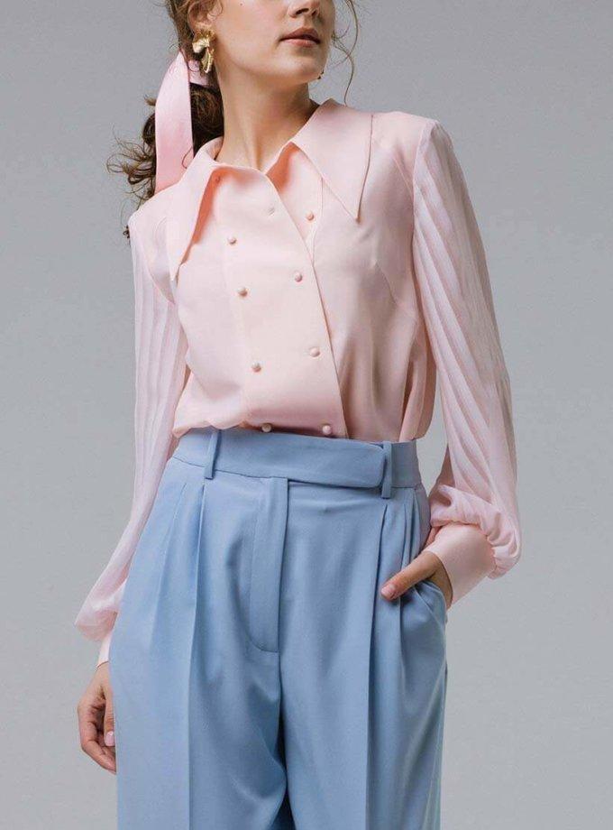 Блуза свободного кроя с кокеткой MNTK_MTBLSM1912, фото 1 - в интернет магазине KAPSULA