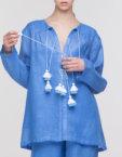 Платье-вышиванка макси FOBERI_ss19003, фото 1 - в интеренет магазине KAPSULA