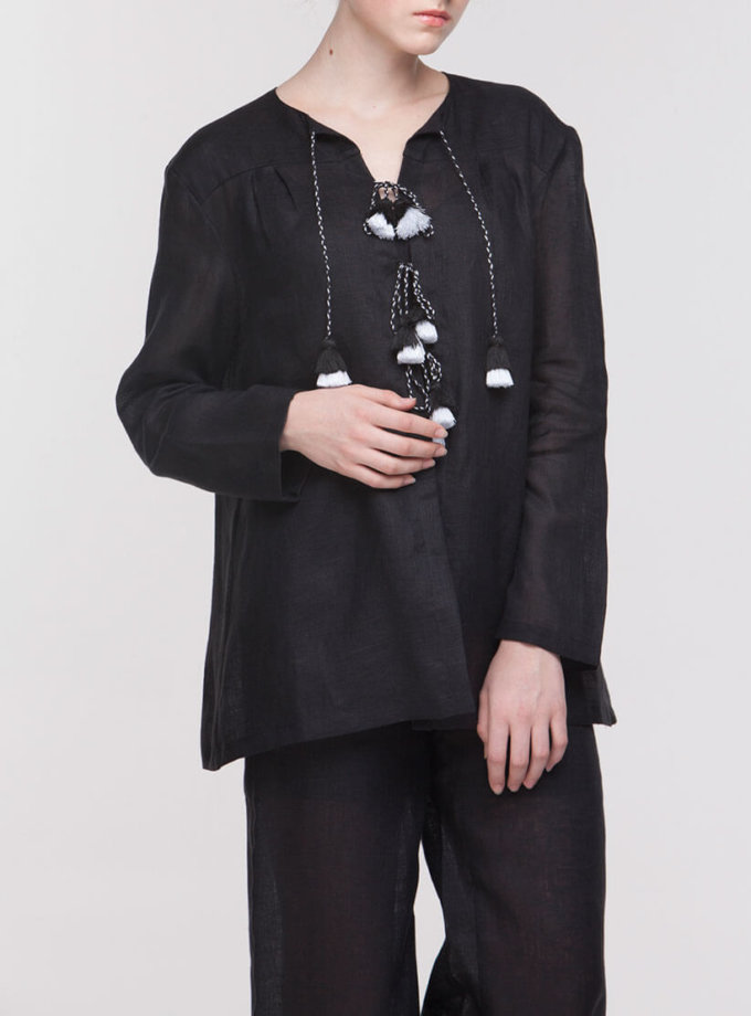 Льняной костюм для сна FOBERI_NS0006, фото 1 - в интернет магазине KAPSULA