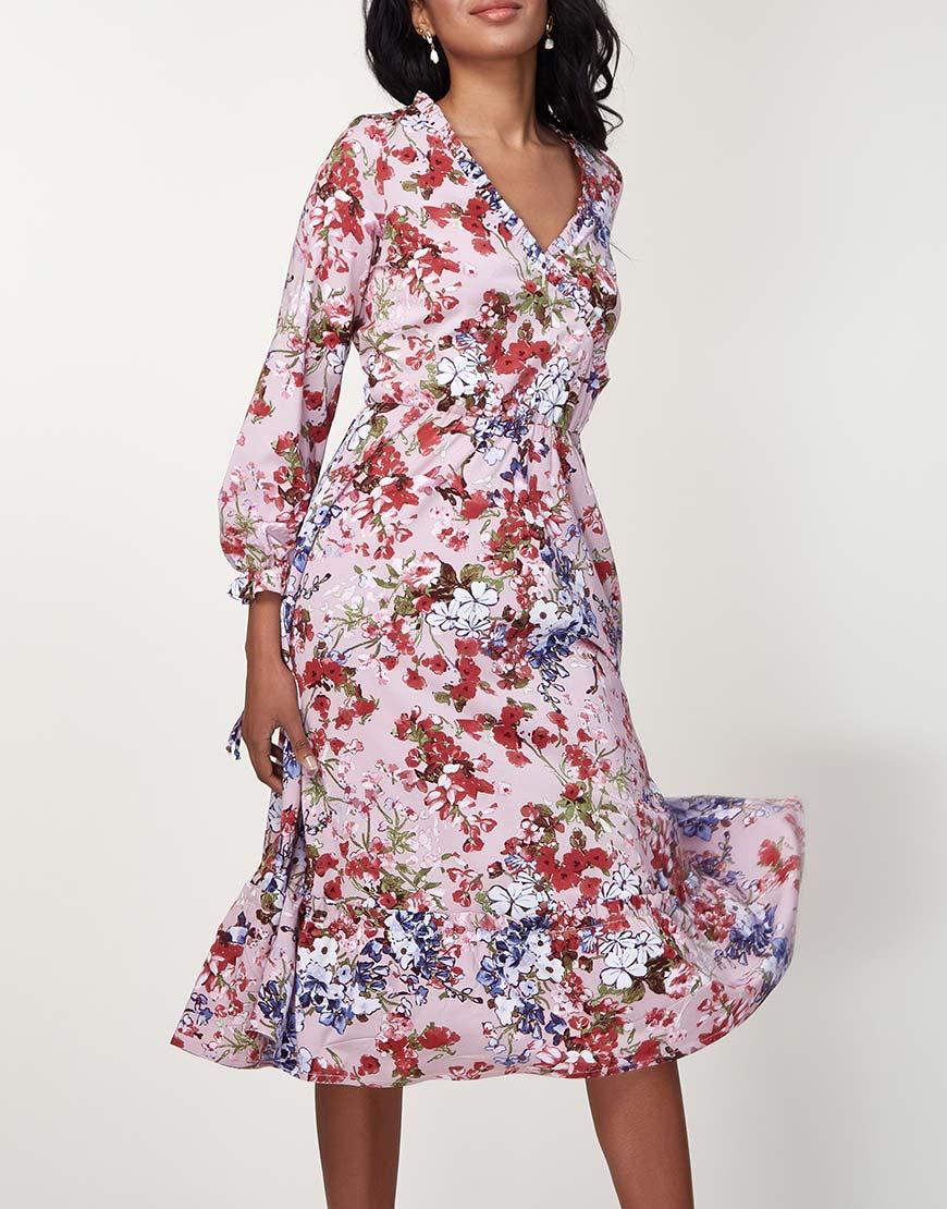 Легкое платье миди
