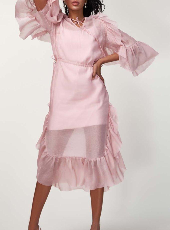 Двухслойное платье с оборками CVR_SS20199, фото 1 - в интернет магазине KAPSULA