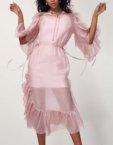 Платье миди в цветочный принт CVR_SS20193, фото 8 - в интеренет магазине KAPSULA