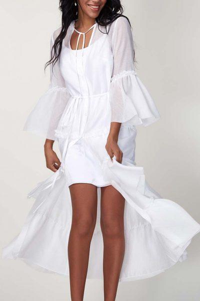 Платье бохо с рюшами CVR_SS20196, фото 1 - в интеренет магазине KAPSULA