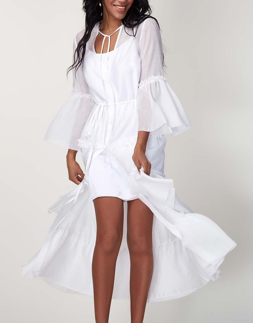 Платье бохо с рюшами