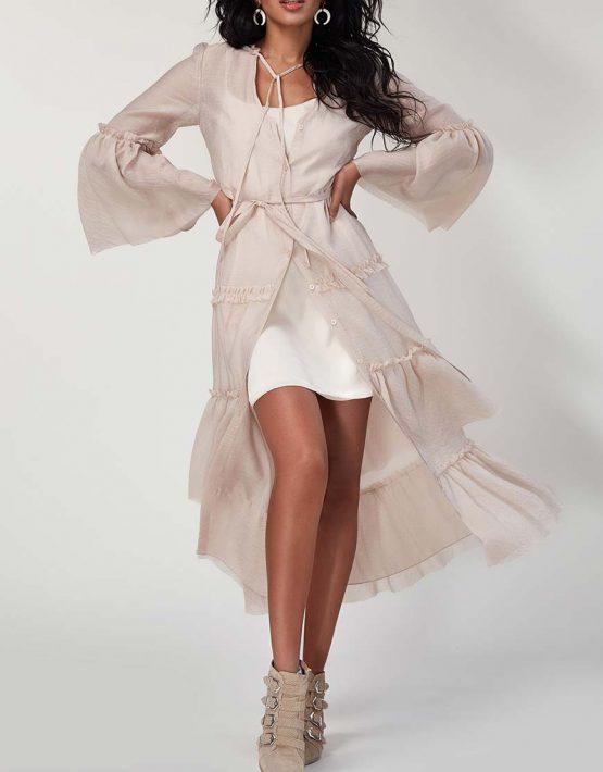 Платье бохо с рюшами CVR_SS20198, фото 2 - в интеренет магазине KAPSULA