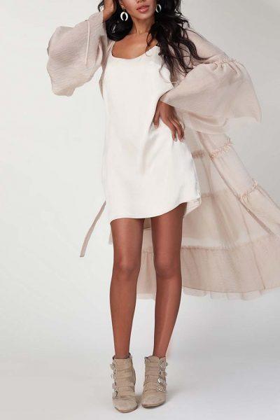 Платье бохо с рюшами CVR_SS20198, фото 3 - в интеренет магазине KAPSULA