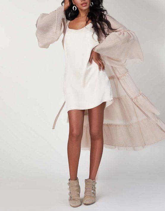 Платье бохо с рюшами CVR_SS20198, фото 8 - в интеренет магазине KAPSULA