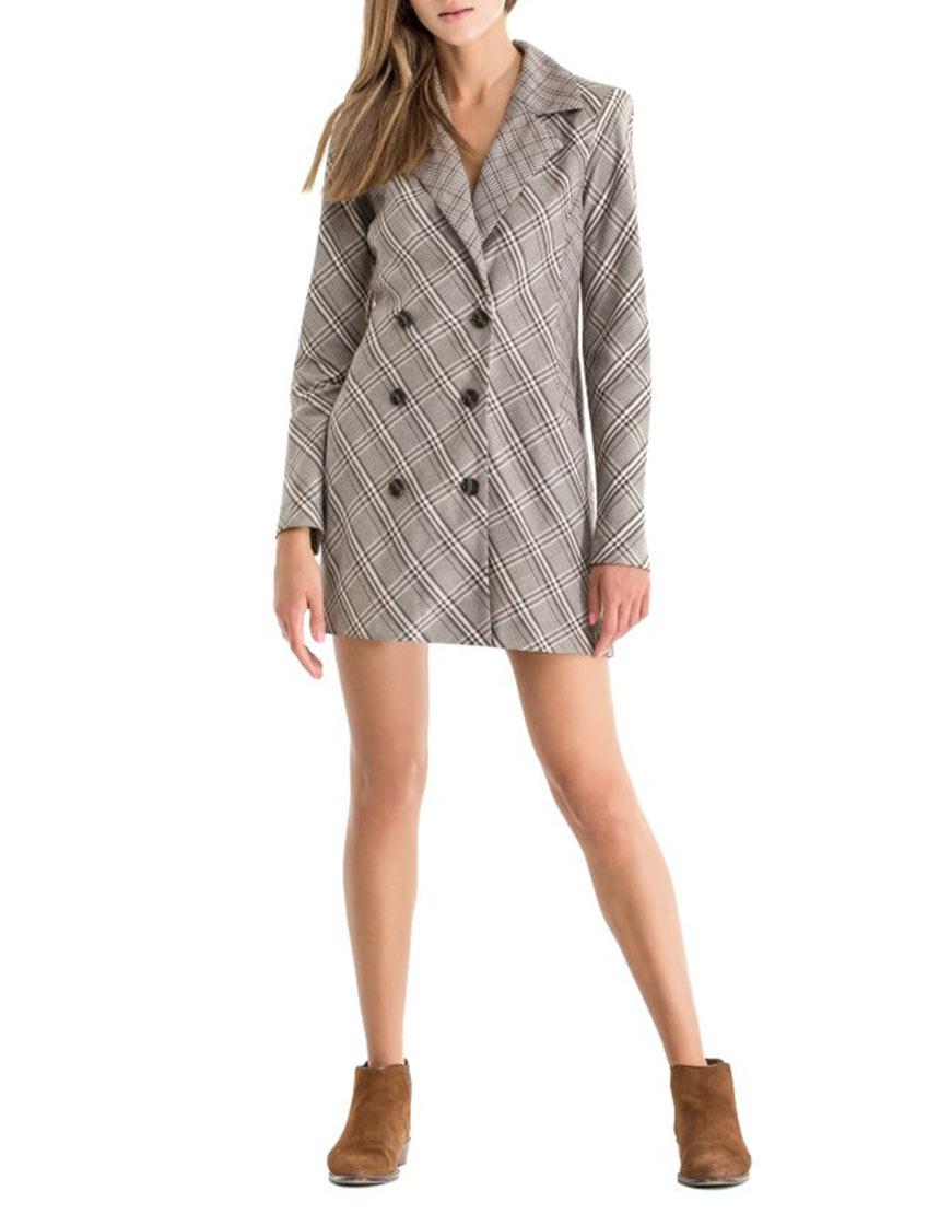 Двубортное платье-жакет