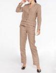 Брючный костюм из льна BLCGR_518, фото 5 - в интеренет магазине KAPSULA