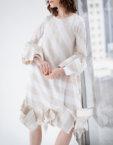Платье миди свободного кроя LYUM_LY_SS19_01, фото 4 - в интеренет магазине KAPSULA