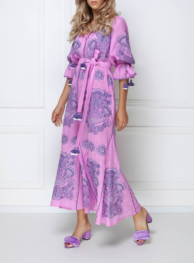 Платье-вышиванка макси FOBERI_ss19004, фото 1 - в интернет магазине KAPSULA