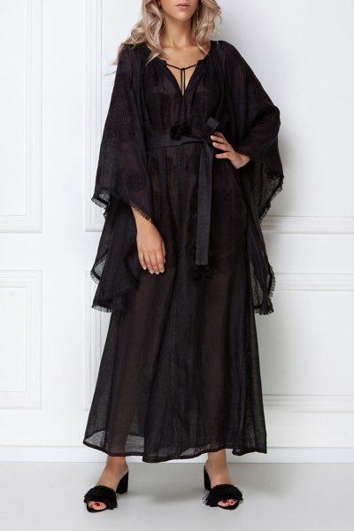 Платье-вышиванка с широкими рукавами FOBERI_ss19005, фото 1 - в интеренет магазине KAPSULA
