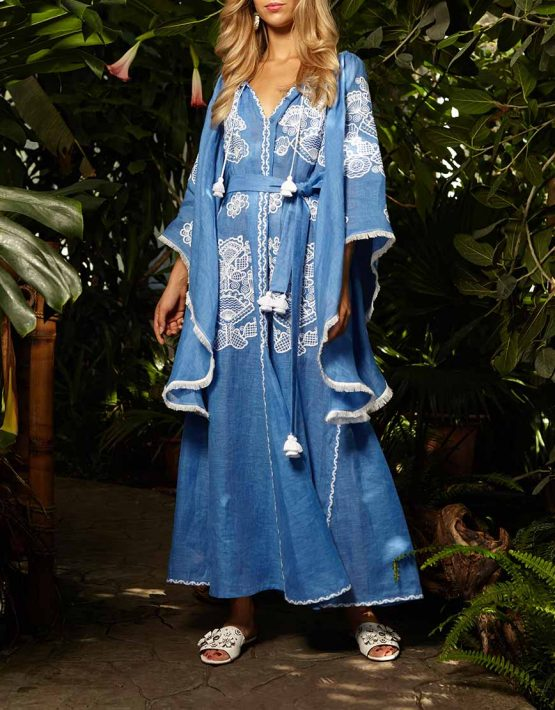 Платье-вышиванка с широкими рукавами FOBERI_ss19006, фото 3 - в интеренет магазине KAPSULA