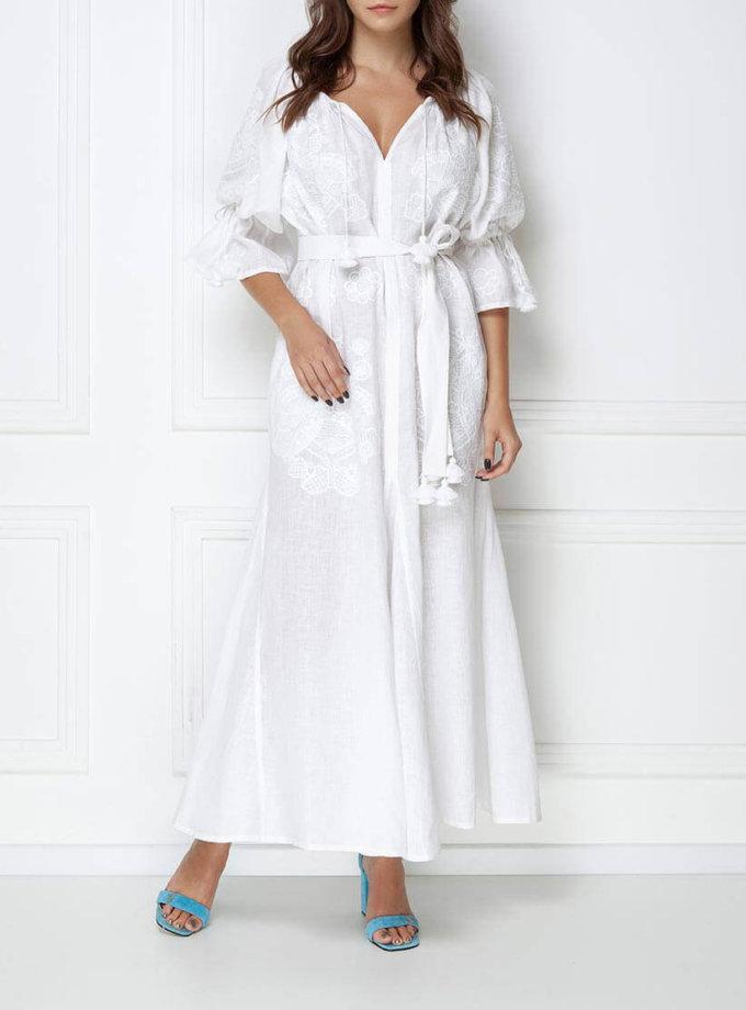 Платье-вышиванка макси FOBERI_ss19007, фото 1 - в интернет магазине KAPSULA
