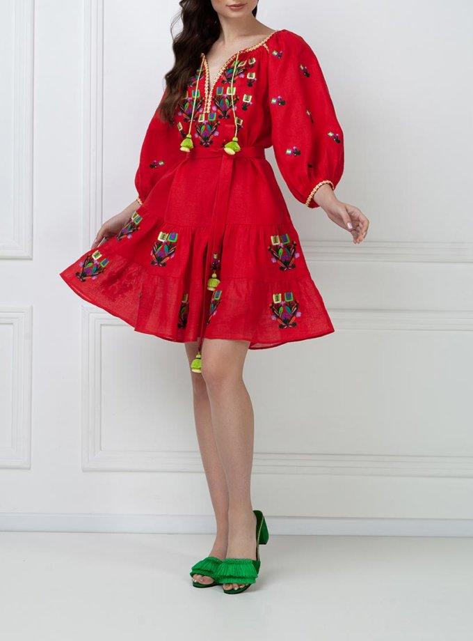 Вышитое платье мини FOBERI_ss19034, фото 1 - в интернет магазине KAPSULA