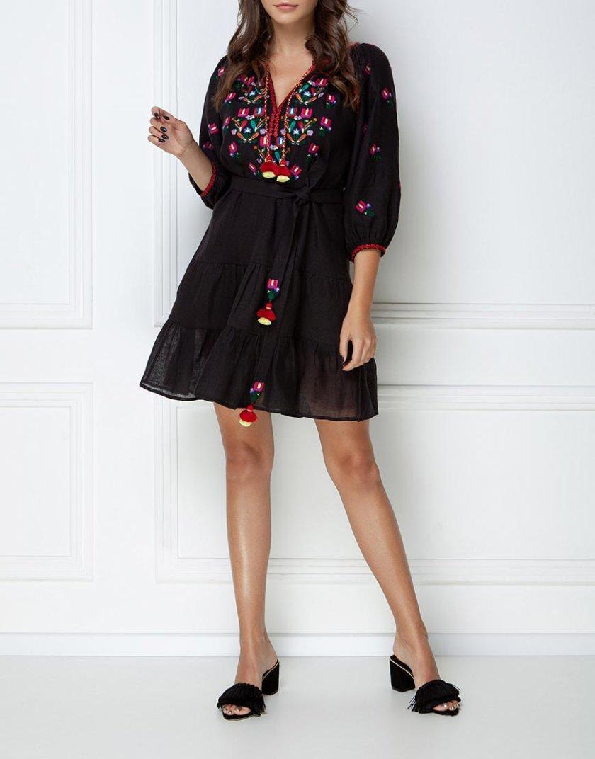 Вышитое платье мини FOBERI_ss19036, фото 1 - в интернет магазине KAPSULA