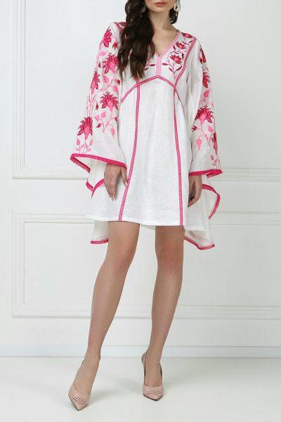 Платье мини с широкими рукавами FOBERI_ss19048, фото 1 - в интеренет магазине KAPSULA