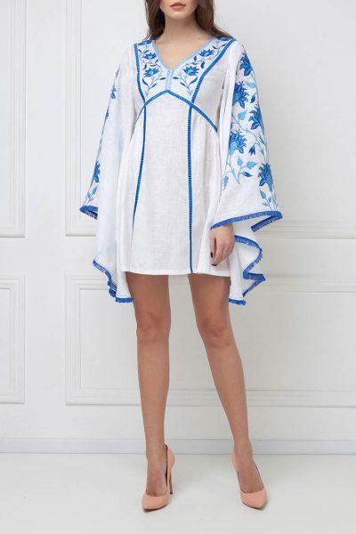 Платье мини с широкими рукавами FOBERI_ss19067, фото 1 - в интеренет магазине KAPSULA