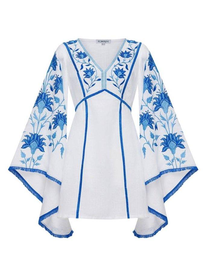 Платье мини с широкими рукавами FOBERI_ss19067, фото 1 - в интернет магазине KAPSULA