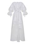 Вышитое платье миди из льна FOBERI_ss19056, фото 2 - в интеренет магазине KAPSULA