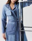 Жакет с широкими манжетами из денима XM_xm_denim7, фото 7 - в интеренет магазине KAPSULA
