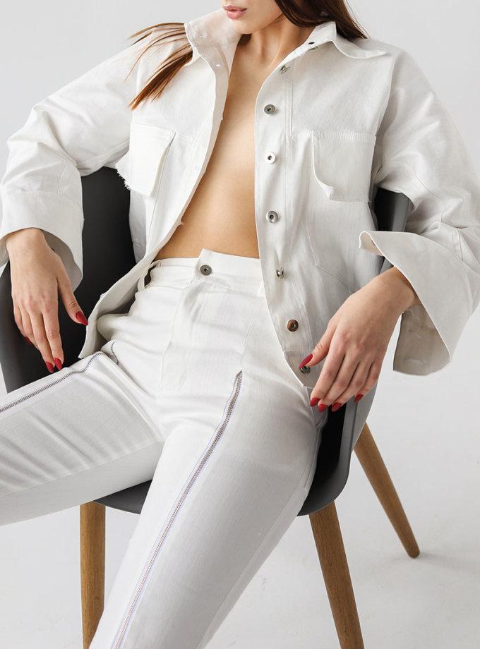 Жакет с широкими манжетами из денима XM_xm_denim7, фото 1 - в интеренет магазине KAPSULA