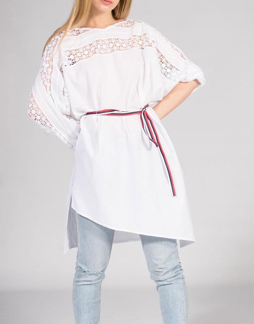 Платье-туника с ассиметричным низом