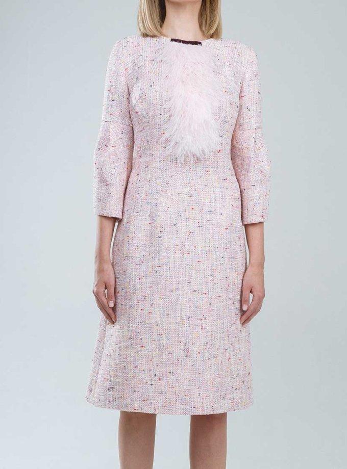 Твидовое платье с жабо SOL_SSS2019D05_outlet, фото 1 - в интернет магазине KAPSULA