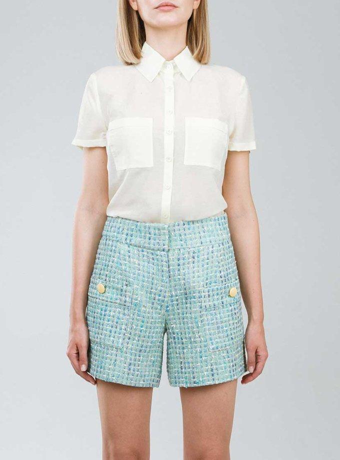 Рубашка прямого кроя с накладными карманами SOL_SSS2019SH09, фото 1 - в интернет магазине KAPSULA