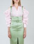 Приталенная блуза с объемным воротником SOL_SSS2019B10_outlet, фото 5 - в интеренет магазине KAPSULA
