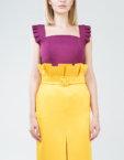 Платье миди с воланами снизу SOL_SSS2019D09, фото 4 - в интеренет магазине KAPSULA