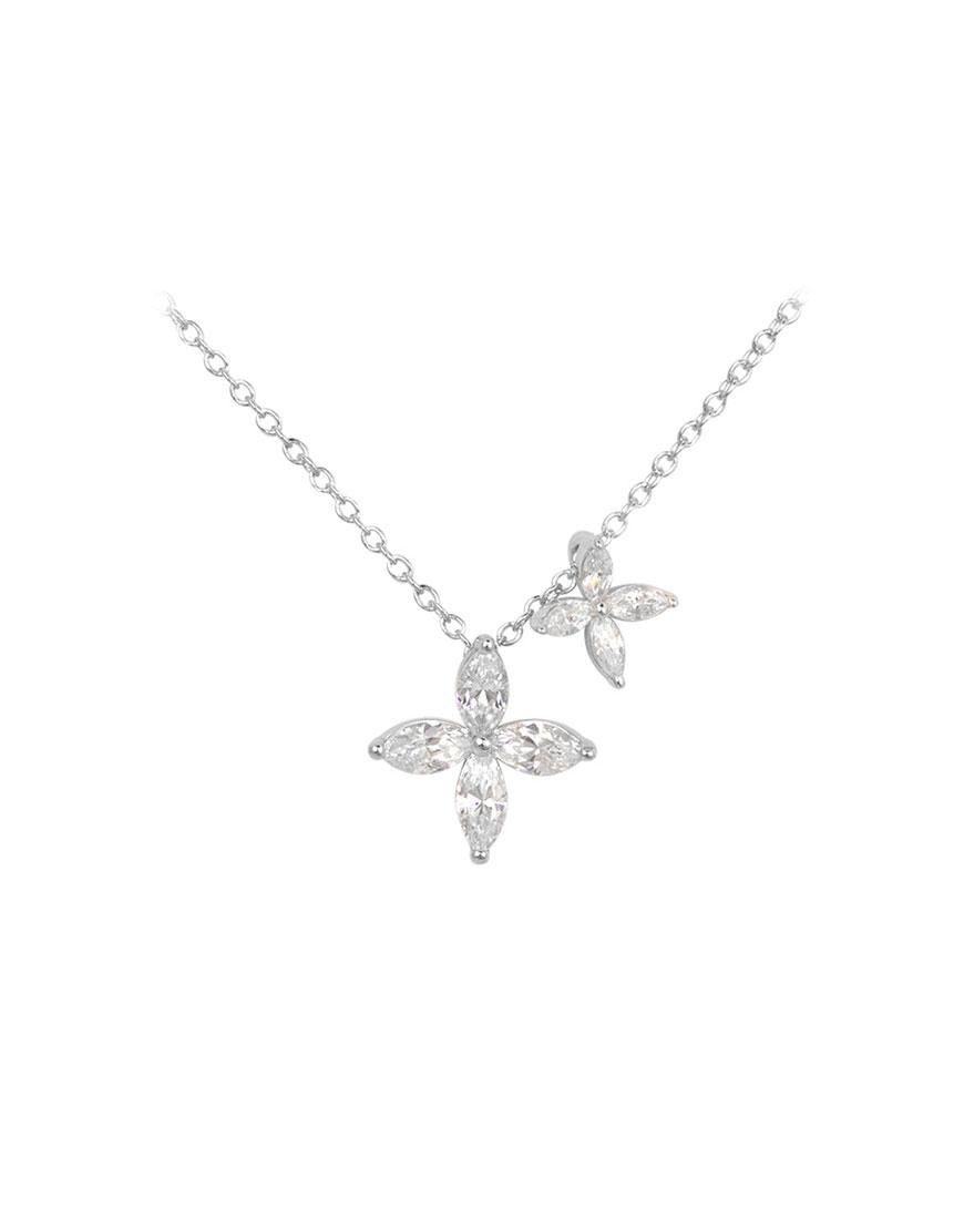 Подвеска из серебра с цирконием Flower