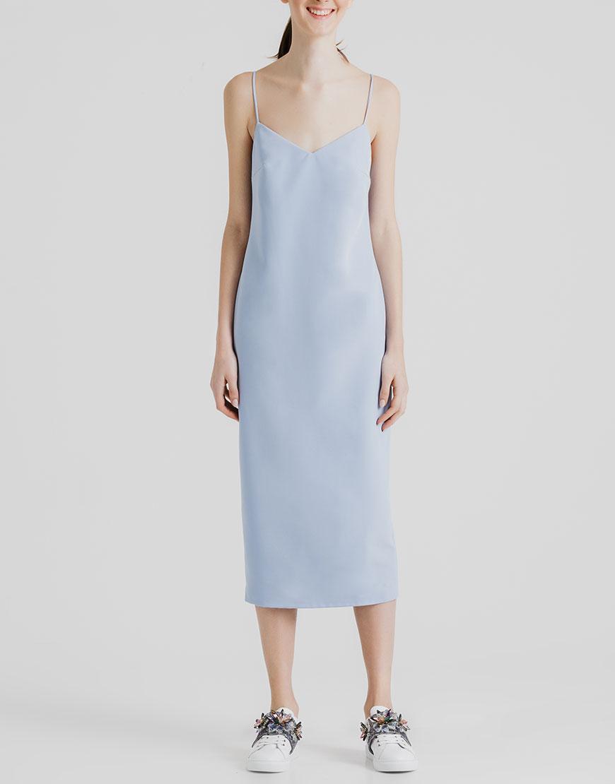 Платье миди с открытой спиной