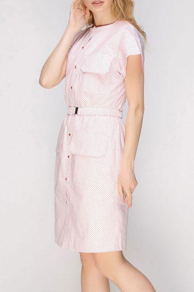 Платье прямого силуэта с накладными карманами AY_2627, фото 5 - в интеренет магазине KAPSULA