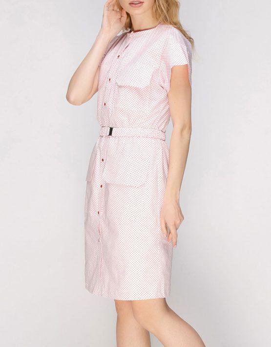 Платье прямого силуэта с накладными карманами AY_2627, фото 3 - в интеренет магазине KAPSULA