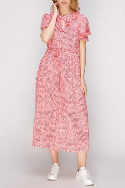 Платье миди с рюшами AY_2633, фото 1 - в интеренет магазине KAPSULA