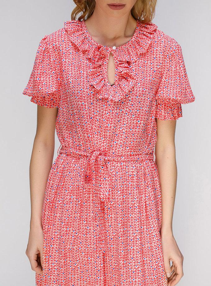 Платье миди с рюшами AY_2633, фото 1 - в интернет магазине KAPSULA