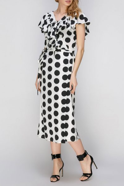 Платье на запах с рюшами AY_2635, фото 5 - в интеренет магазине KAPSULA